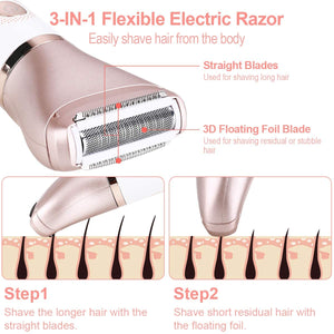 Electric Razor for Women, Tencoz Hair Removal for Women 2 in 1