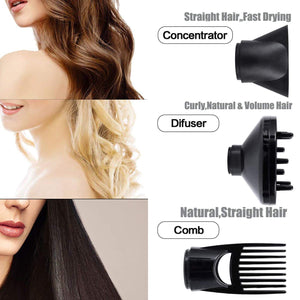 Hair Dryer 1875W, Negative Ionic Fast Dry Low