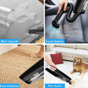 Low Noise Cordless Vacuum Ideal for Home, Dogs & Cats Hair and Car Cleaning