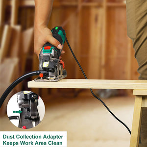 Compact Circular Saw , Ideal for Wood, Soft Metal, Tile and Plastic Cuts, Laser Guide, Scale Ruler..