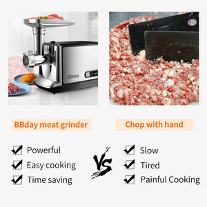 Electric Meat Grinder Powerful Electric Food Meat Grinder, Heavy Duty