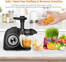 Anti-clogging Cold Press Juicer with Peeler, Brush, Recipes for Fruits and Vegetables