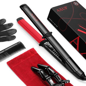AXUF Hair Straightener, 2 in 1 Straightens & Curls with Adjustable Temp, Auto-Off