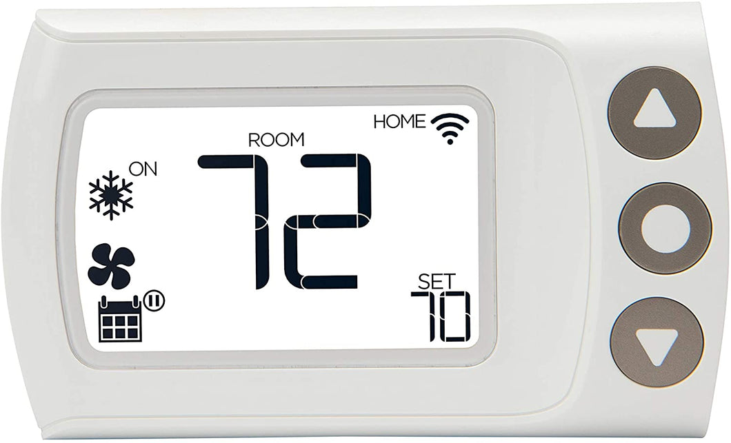 Digital Wi-Fi Thermostat, Custom & Auto Scheduling – White.