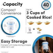 (1.5-Cup UNCOOKED) Cool Touch Mini Rice Cooker, 3 Cups Cups