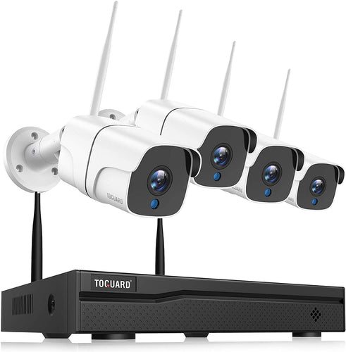 Wireless Security Camera System ,Night Vision ,Remote Monitor, Waterproof, No Hard Drive.