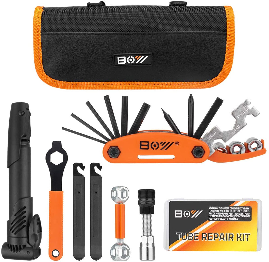 All In One Bicycle Repair Tool Kit & Bicycle Tire Pump