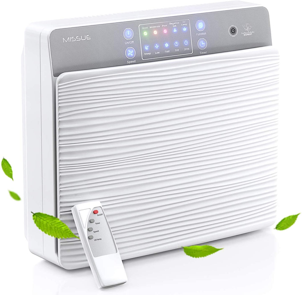 H13 HEPA Filter Smart Air Purifier with Air Quality Sensor.