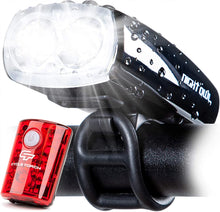 Perfect Commuter Safety Front and Back Bicycle Light LED Combo