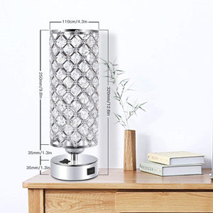 USB Crystal Table Desk Lamp with USB Port.