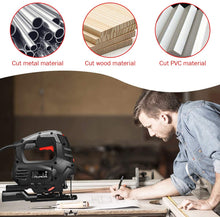 Goplus Jigsaw, 800W 3000rpm Jig Saw with Laser, Variable Speed, 6 Blades, Carrying Case, Powerful 6.6 Feet Cord and Scale Ruler Copper Motor,