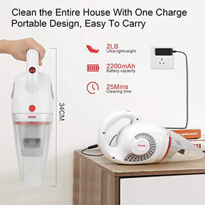 Handheld Vacuum Cleaner 8500PA Wet Dry Powerful Cyclonic Suction Lightweight Quick Charge Vacuum Cleaner
