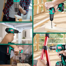 Cordless Drill Driver 20V,+1 Clutch & Speed Built-in LED for Drilling Wood, Metal and Plastic