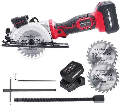 Cordless Circular Saws, Two 24 Teeth Blades 20V 4.0Ah Battery and Charger Included.