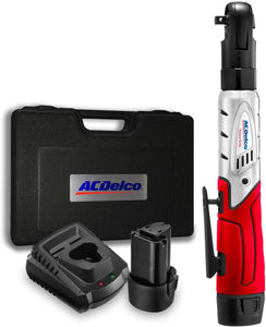 "12V Cordless Li-ion 3/8"" 57 ft-lbs. Ratchet Wrench Tool Kit, with 2 Batteries and Carrying Case."