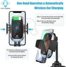 Wireless Fast Charging Cup Holder 360 Rotation Phone Mount