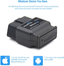 Bluetooth Scanner Auto OBD II Diagnostic Scan Tool for iOS & Android