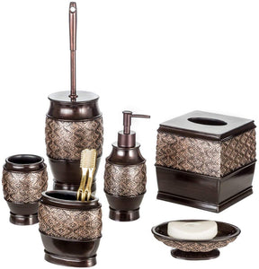 Creative Scents Dublin 6-Piece Bathroom Accessories Set, Includes Decorative