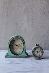 Co-op Grey Pewter Mantel Birds Clocks