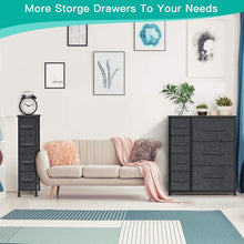 Fabric Dresser with 7 Drawers, Dresser Organizer Storage Tower with Steel