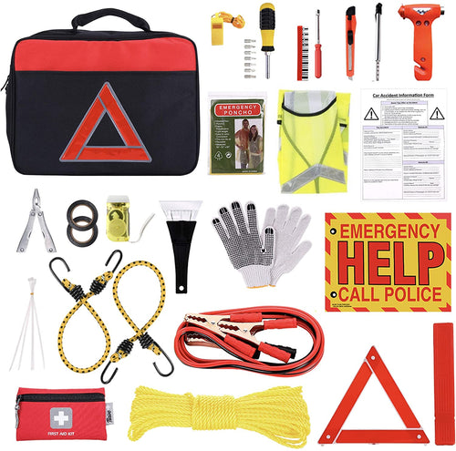 Thrive Car Emergency Kit with Jumper Cables + First Aid Kit | Car Accessories | Roadside Assistance & Survival