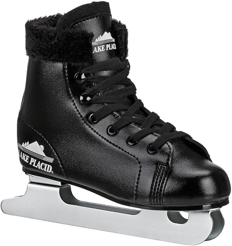 Lake Placid Starglide Boy's Double Runner Figure Ice Skate, Black