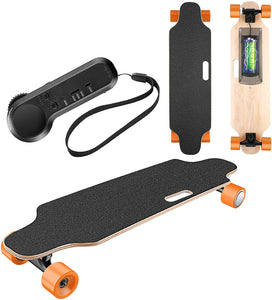Electric with Wireless Remote Control Max Speed 12 MPH, 7 Layers Maple E-Skateboard