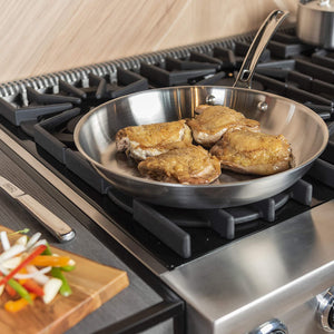 Professional 5-Ply Stainless Steel Fry Pan