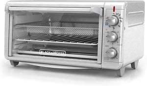 Black+Decker TO3265XSSD Extra Wide Crisp 'N Bake Air Fry Toaster Oven