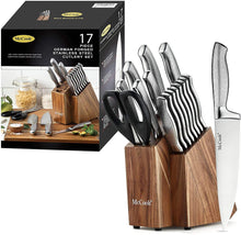 McCook MC20 Premium Knife Sets,17 Pieces Full Tang Hammered German
