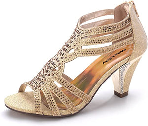 Lady Women's Lexie Crystal Dress Heeled Sandals