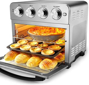 Geek Chef Air Fryer Toaster Oven, 6 Slice 24QT Convection Airfryer Countertop Oven