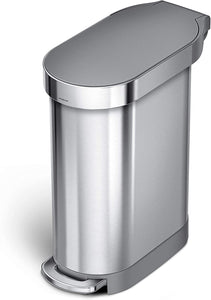 Simple human 45 Liter / 12 Gallon Slim Hands-Free Kitchen Step Trash Can