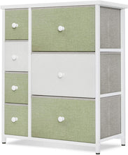 Steel Frame and Wood Top, Easy Pull Solid Handle, Green & White