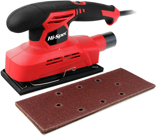 Corded Sander with 10 Piece Sand Papers for Sanding Down, Smoothing, of Wood.