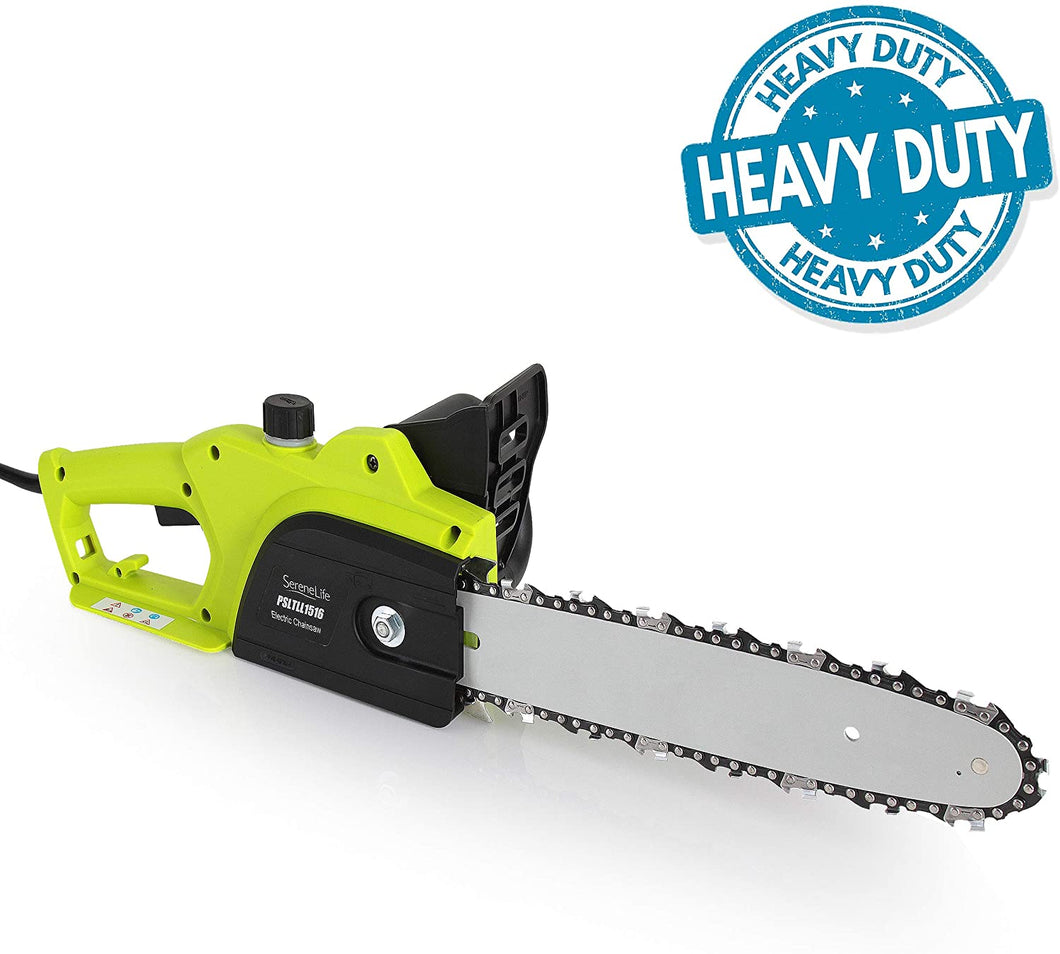 8 Amp Electric Corded Chainsaw, 10ft Cord, 12 Inch Alloy Steel Cutting Blade..