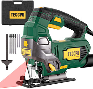 Jigsaw, with Laser, 6 Variable Speed, 6 Blades, Pure Copper Motor..