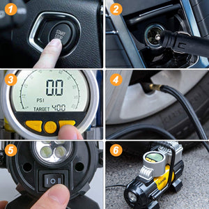 Portable Air Compressor Pump, Digital Tire Inflator