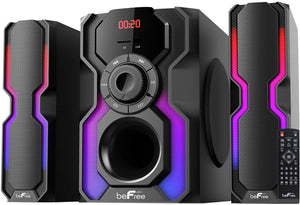 be Free Sound 2.1 Channel Bluetooth Multimedia Wired Speaker Shelf Stereo System