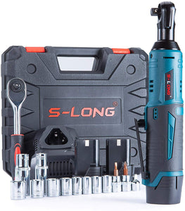 "Cordless Ratchet Wrench Set, 3/8"",  with 12 Sockets,  and 60-Min Fast Charge."