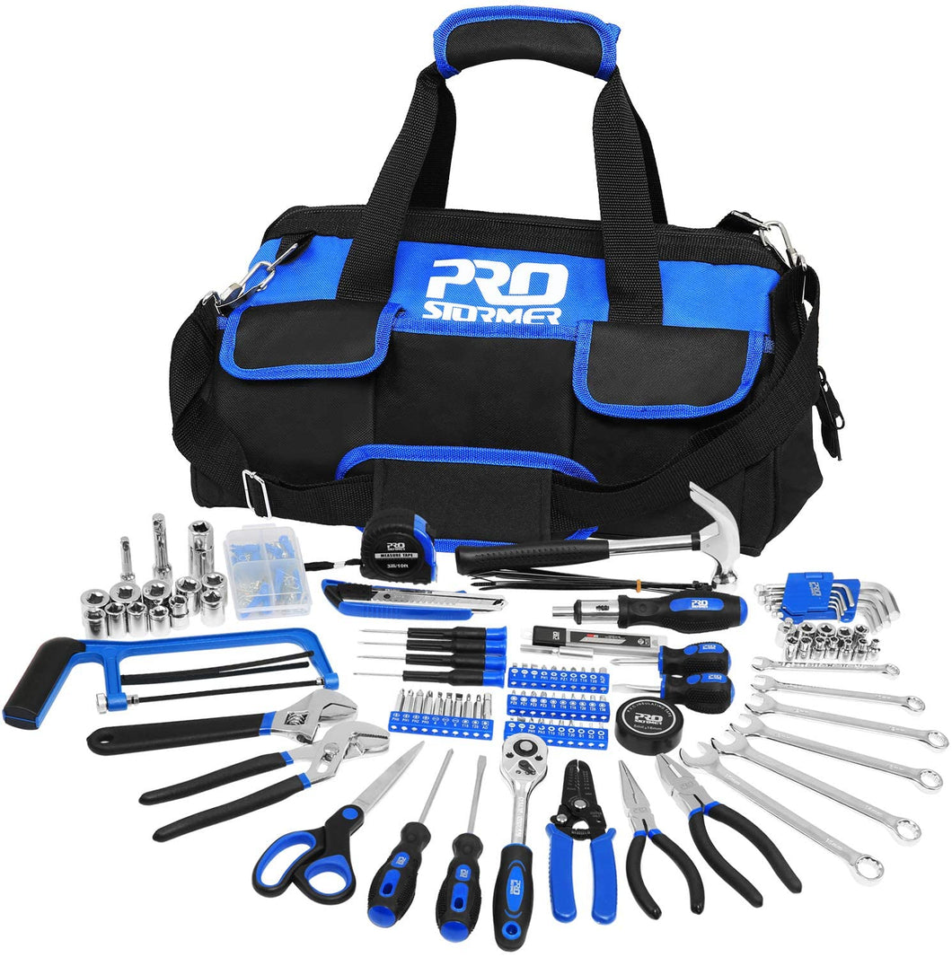 Hand Tool Set with Easy Carrying Storage Bag for DIY and Home Maintenance.
