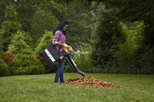 3-In-1 Electric Blower/Mulcher/Vacuum with Multi-Stage All Metal Mulching System, Black.