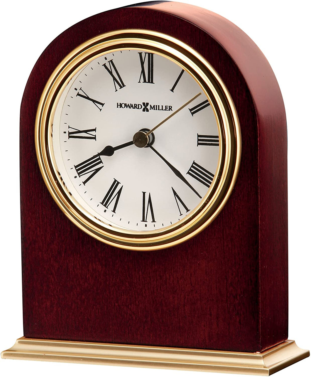 Table Clock 645-401 – Wooden & Round with Quartz Alarm Movement