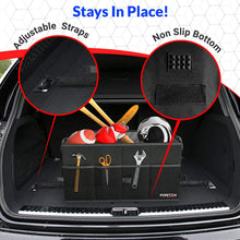 Car Trunk Organizer, Collapsible Storage with Non Slip Bottom and Securing Straps