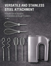 Kitchen Handheld Mixer with Storage Case and 6 Stainless Steel Attachments