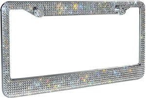 Rhinestone Premium Stainless Steel Bling License Plate Frame with Gift Box