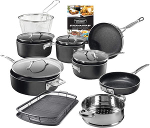 GRANITESTONE Stack master 15 Piece Induction-compatible,