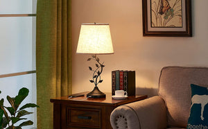 Bedside Lamp with USB Fast Charging Ports.