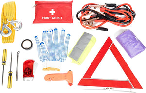 Roadside Assistance Emergency Car Kit - First Aid Kit, Jumper Cables