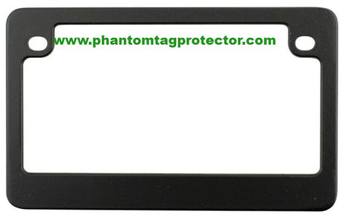 Phantom Tag Protector Matte Black Metal Motorcycle License Plate Frame